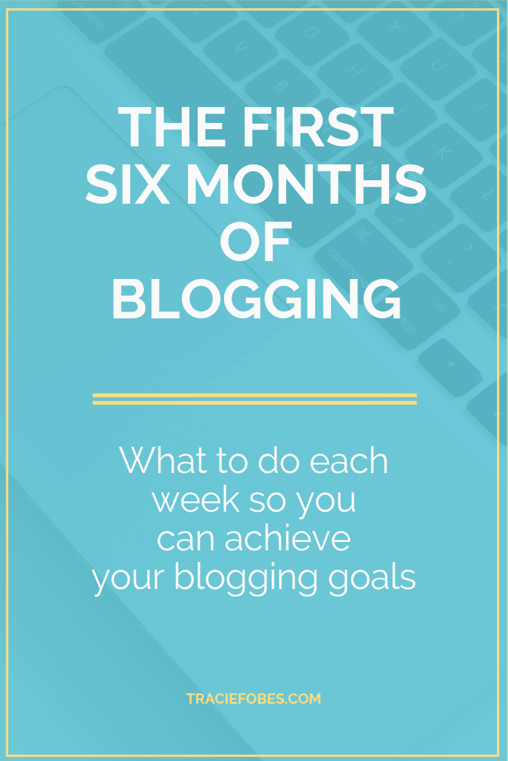 six months blogging